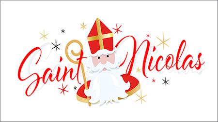 La visite de saint Nicolas.